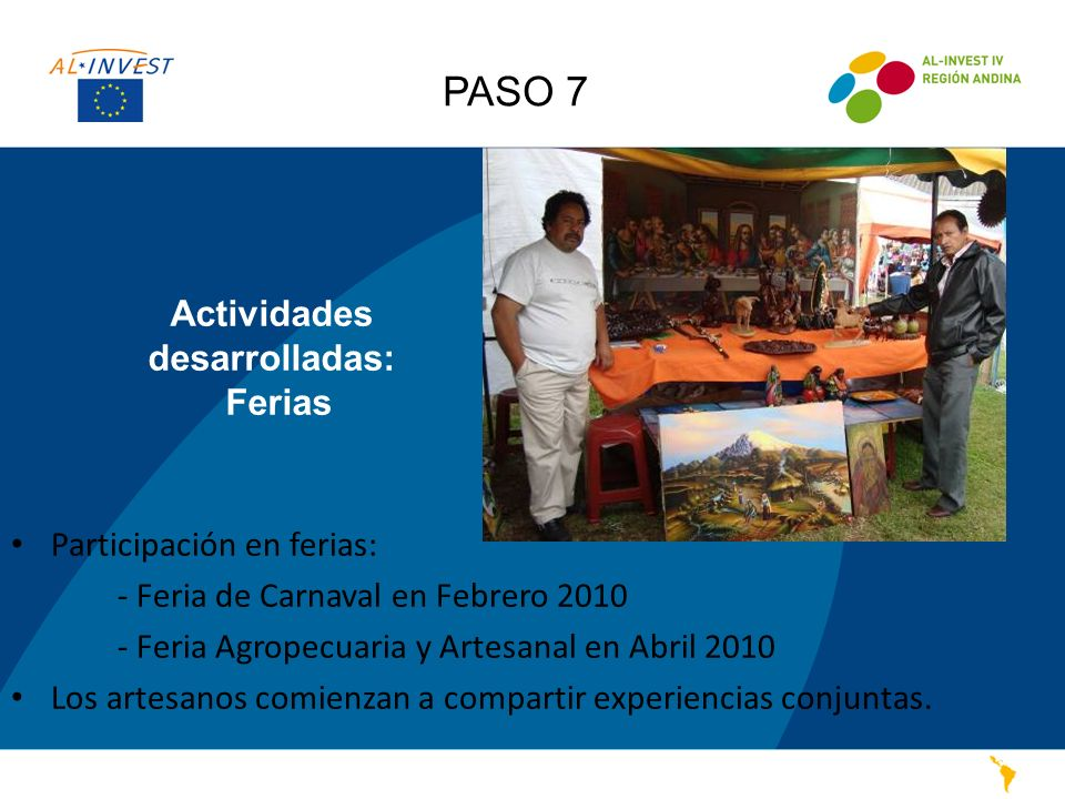 Actividades desarrolladas: Ferias