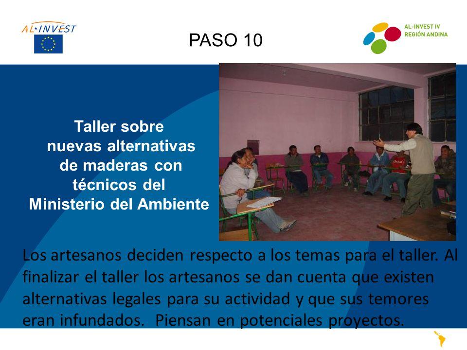 PASO 10 Taller sobre nuevas alternativas de maderas con técnicos del Ministerio del Ambiente.
