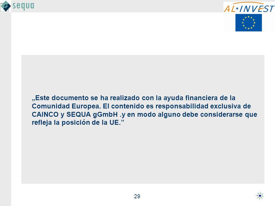 """""""Este documento se ha realizado con la ayuda financiera de la Comunidad Europea."""