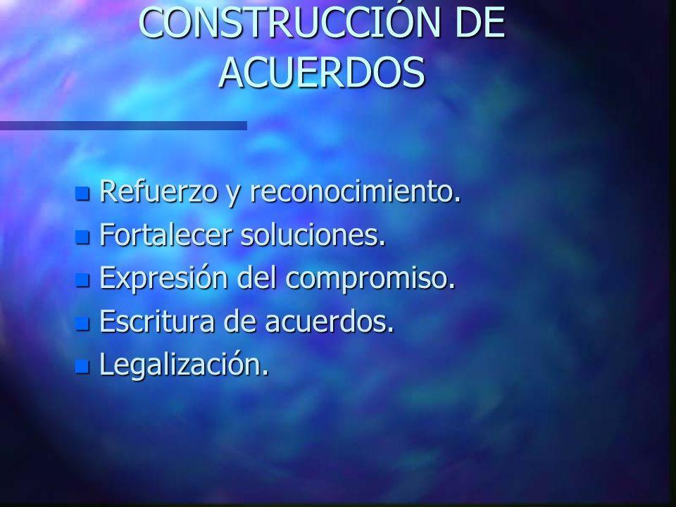 CONSTRUCCIÓN DE ACUERDOS