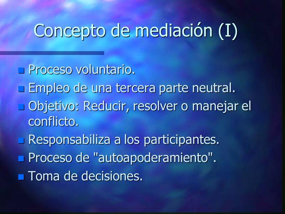 Concepto de mediación (I)