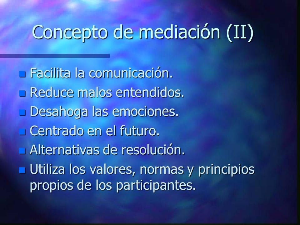 Concepto de mediación (II)