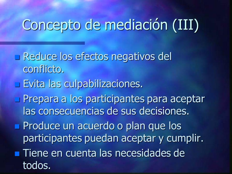 Concepto de mediación (III)