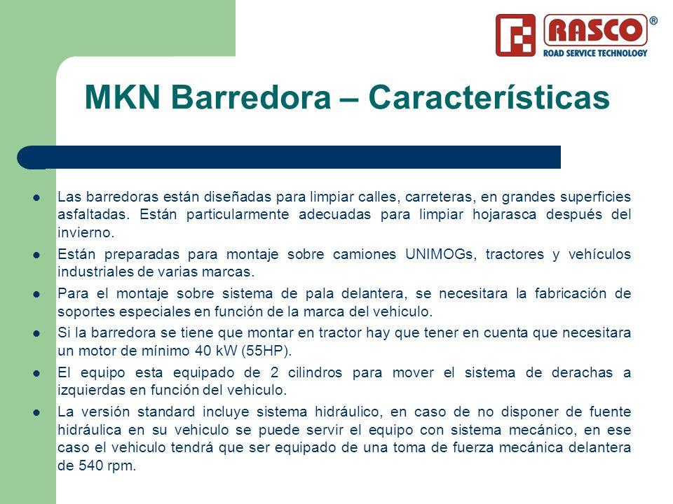 MKN Barredora – Características