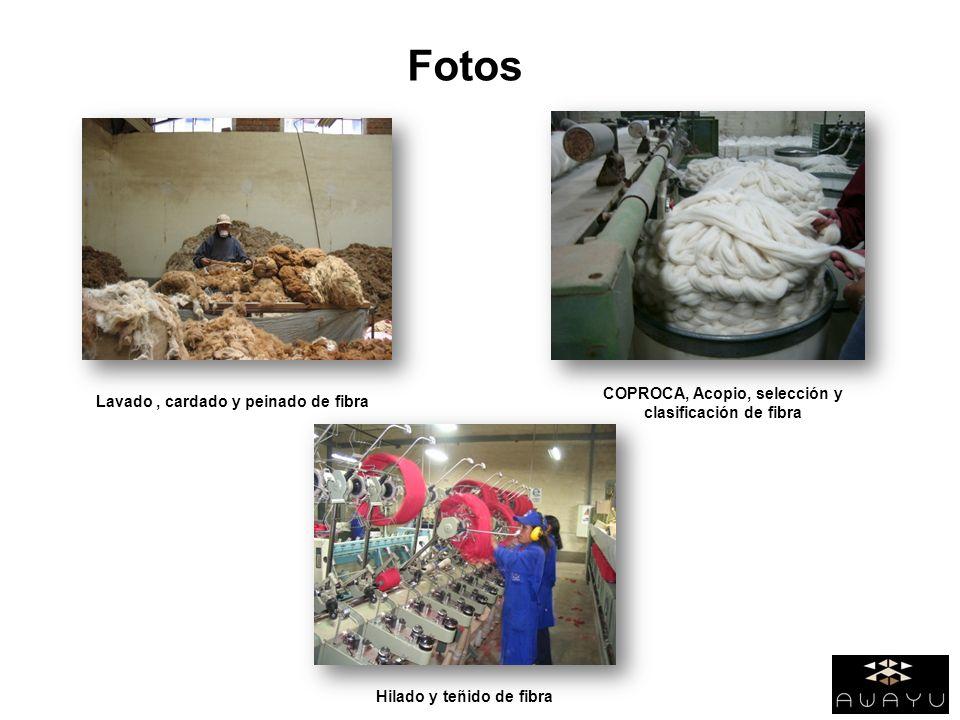 Fotos COPROCA, Acopio, selección y clasificación de fibra