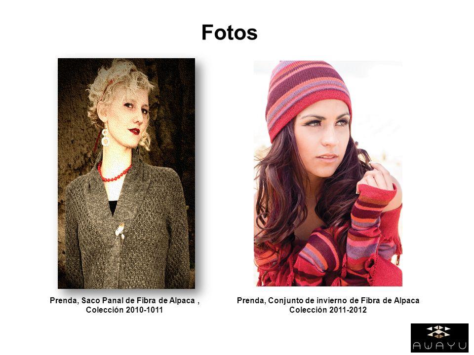 Fotos Prenda, Saco Panal de Fibra de Alpaca , Colección 2010-1011