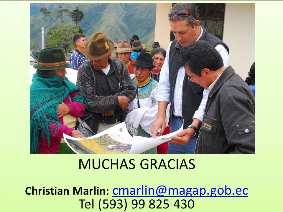 Christian Marlin: cmarlin@magap.gob.ec