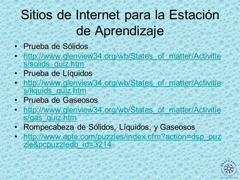 Sitios de Internet para la Estación de Aprendizaje