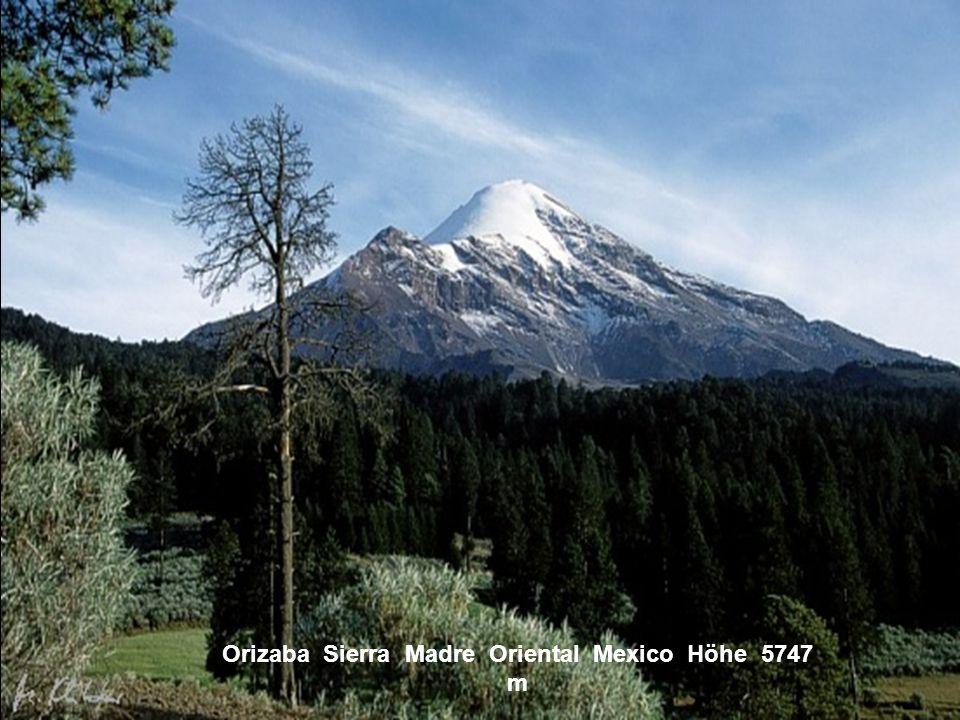 Orizaba Sierra Madre Oriental Mexico Höhe 5747 m