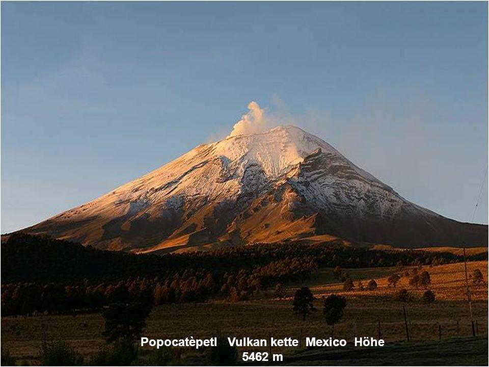 Popocatèpetl Vulkan kette Mexico Höhe 5462 m