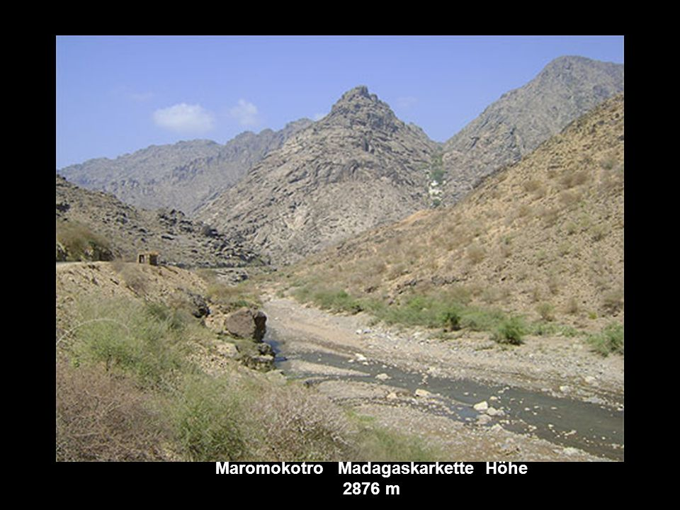 Maromokotro Madagaskarkette Höhe 2876 m