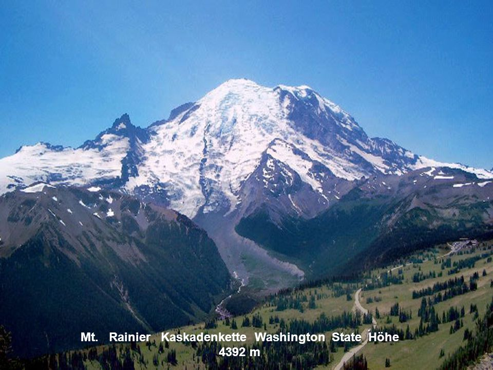 Mt. Rainier Kaskadenkette Washington State Höhe 4392 m