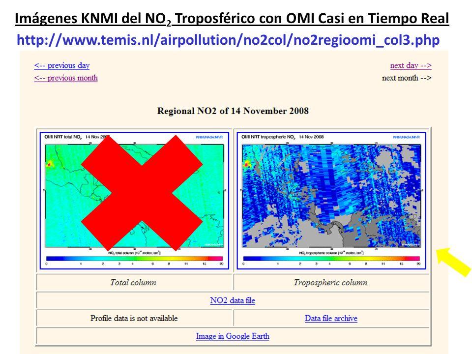 Imágenes KNMI del NO2 Troposférico con OMI Casi en Tiempo Real