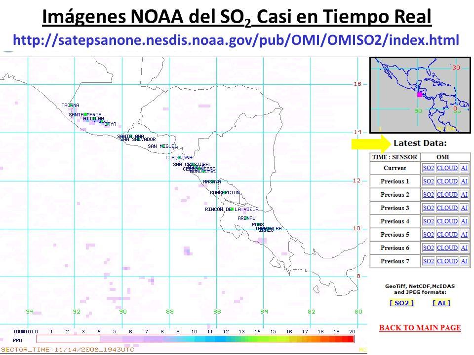 Imágenes NOAA del SO2 Casi en Tiempo Real