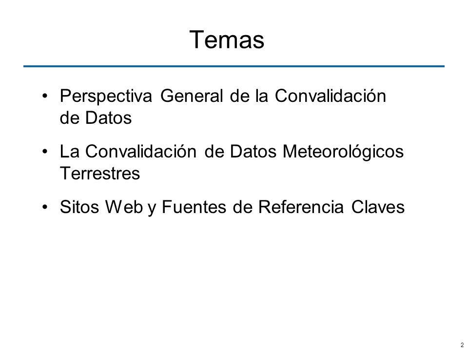 Temas Perspectiva General de la Convalidación de Datos