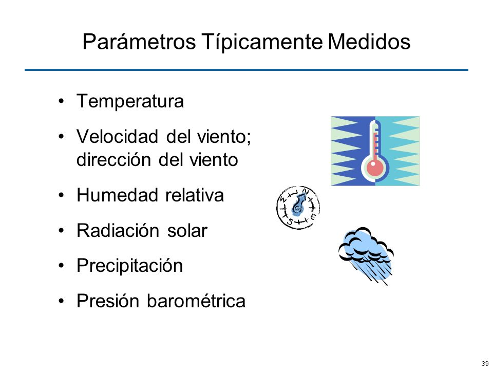 Parámetros Típicamente Medidos