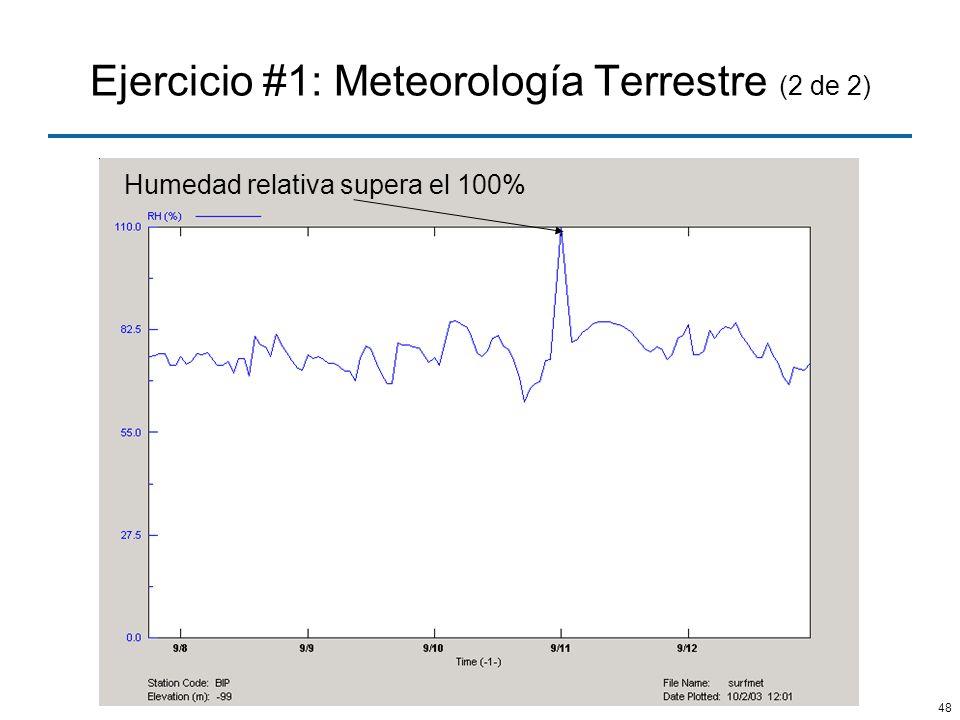 Ejercicio #1: Meteorología Terrestre (2 de 2)