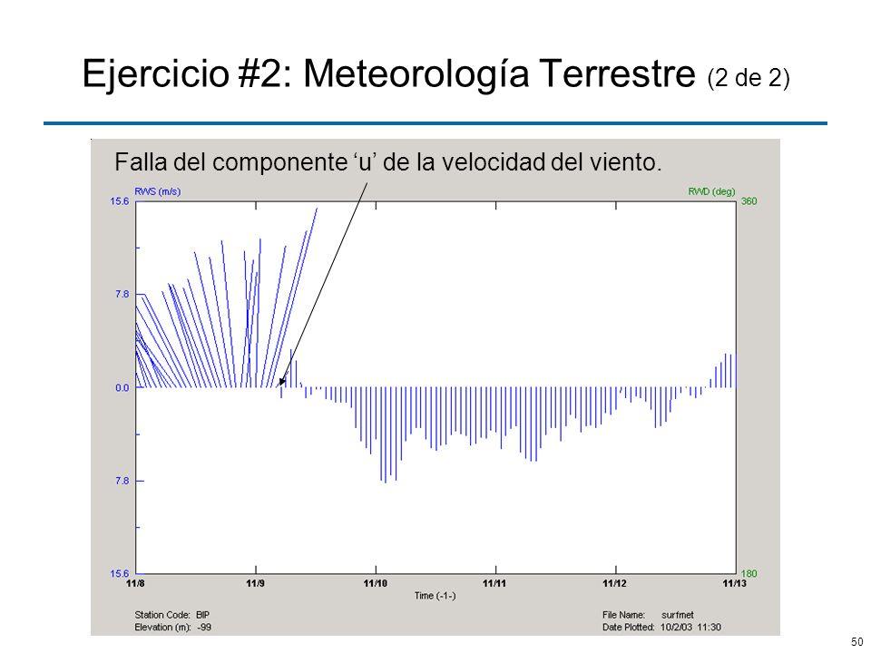 Ejercicio #2: Meteorología Terrestre (2 de 2)