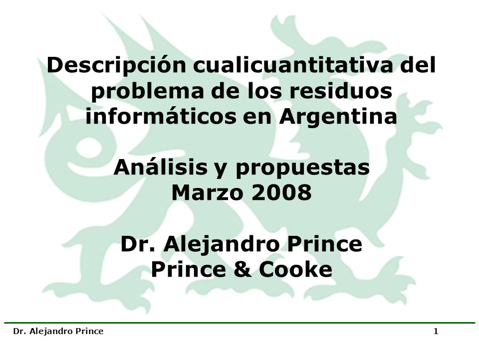 Descripción cualicuantitativa del problema de los residuos informáticos en Argentina