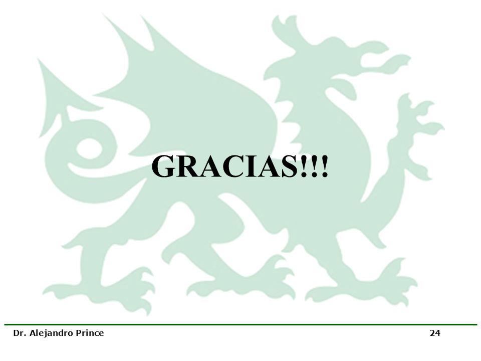 GRACIAS!!! Dr. Alejandro Prince