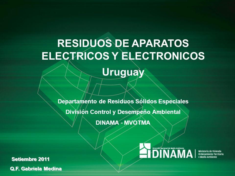 RESIDUOS DE APARATOS ELECTRICOS Y ELECTRONICOS Uruguay