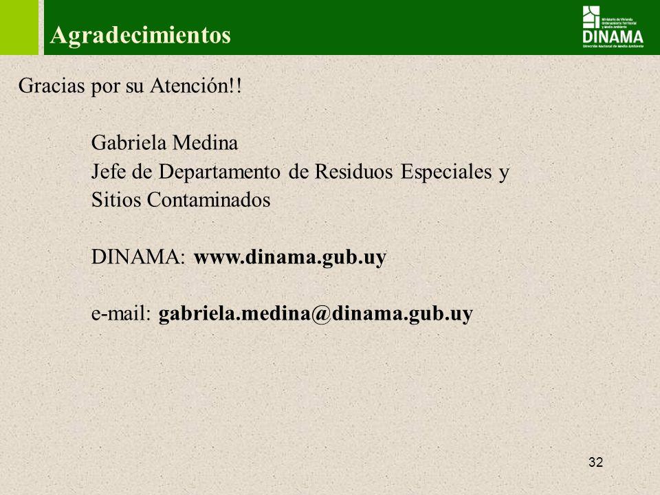Agradecimientos Gracias por su Atención!! Gabriela Medina