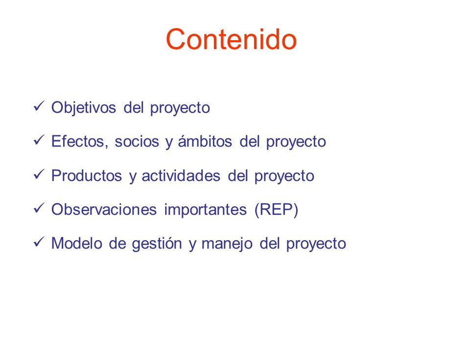 Contenido Objetivos del proyecto