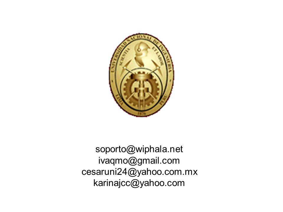 soporto@wiphala.net ivaqmo@gmail.com cesaruni24@yahoo.com.mx karinajcc@yahoo.com
