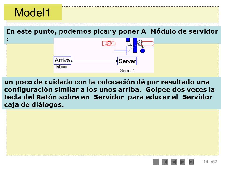 Model1 En este punto, podemos picar y poner A Módulo de servidor :