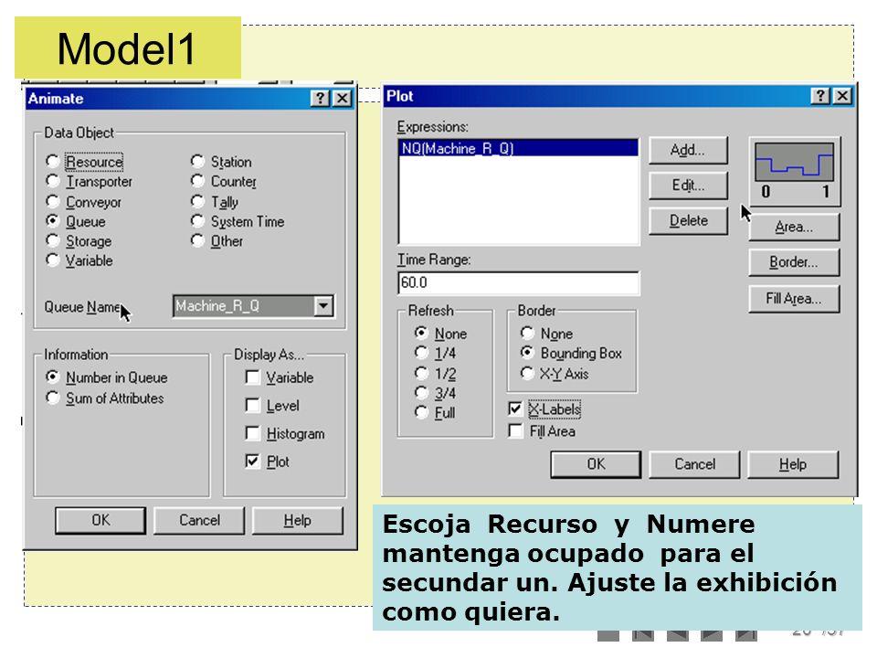Model1 Escoja Recurso y Numere mantenga ocupado para el secundar un.