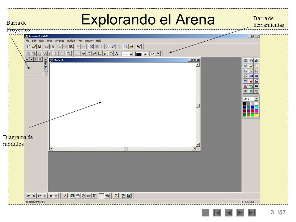 Explorando el Arena Barra de herramientas Barra de Proyectos