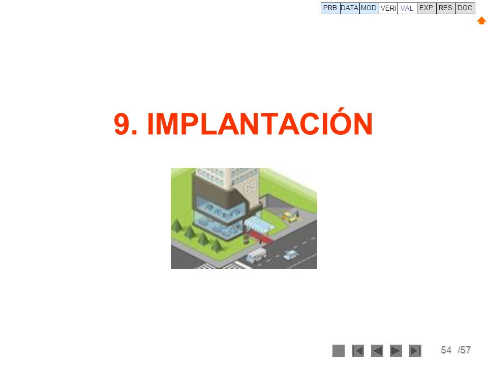 PRB DATA VERI MOD VAL EXP RES DOC 9. IMPLANTACIÓN