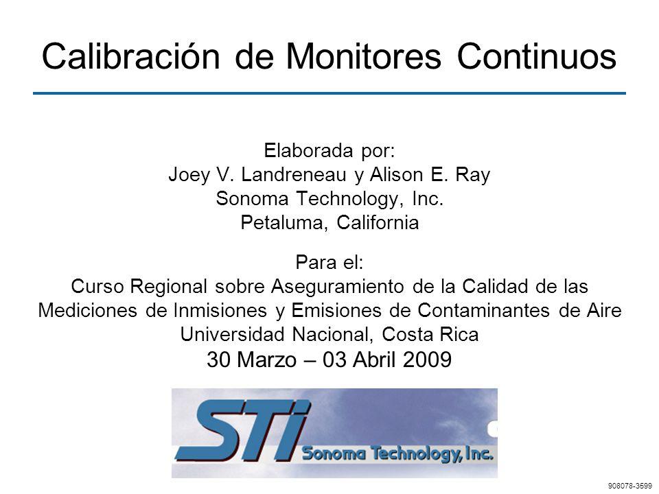 Calibración de Monitores Continuos