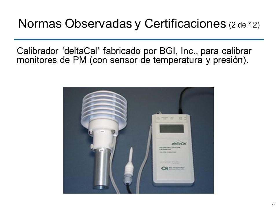 Normas Observadas y Certificaciones (2 de 12)