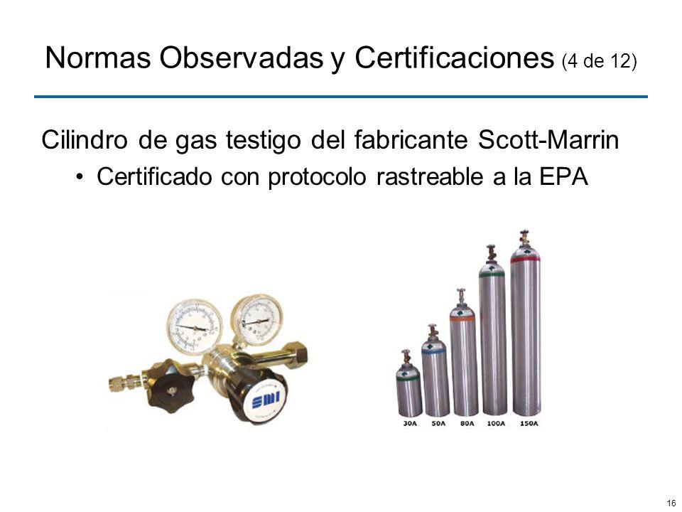 Normas Observadas y Certificaciones (4 de 12)