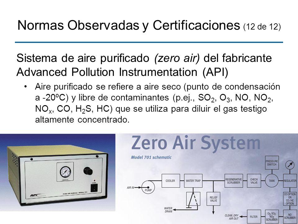 Normas Observadas y Certificaciones (12 de 12)