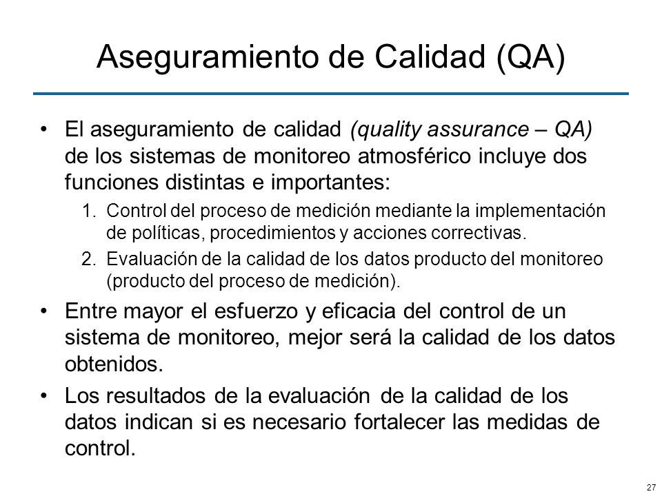 Aseguramiento de Calidad (QA)