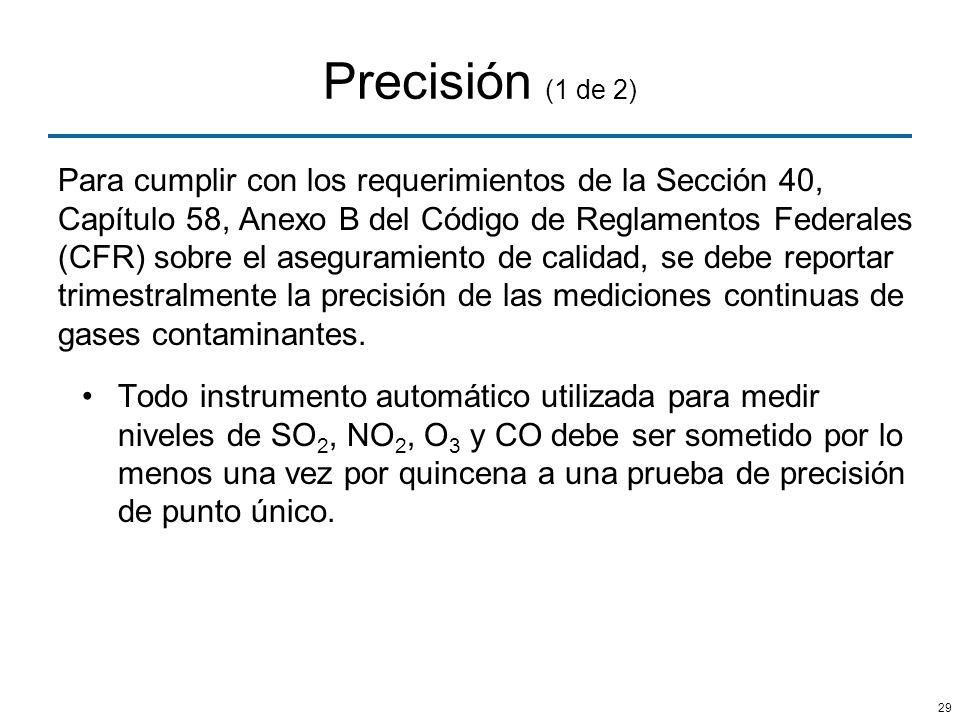 Precisión (1 de 2)