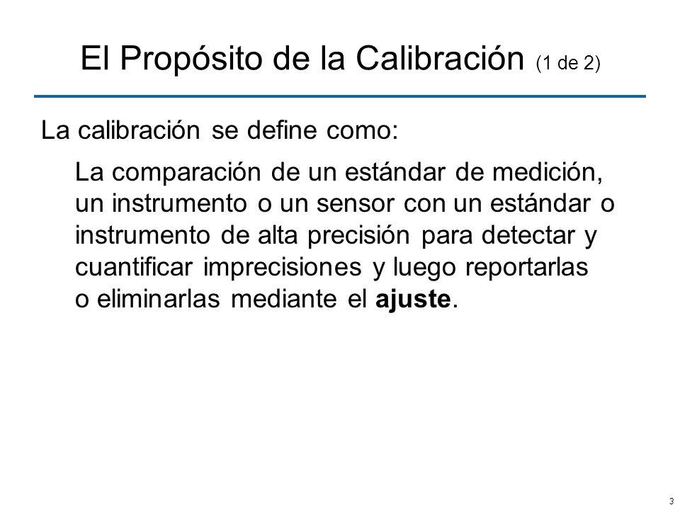 El Propósito de la Calibración (1 de 2)