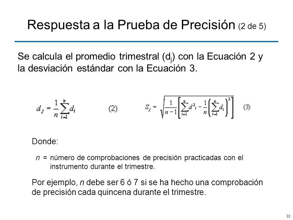 Respuesta a la Prueba de Precisión (2 de 5)