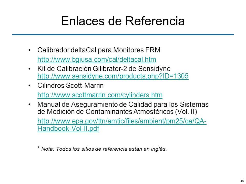 Enlaces de Referencia Calibrador deltaCal para Monitores FRM