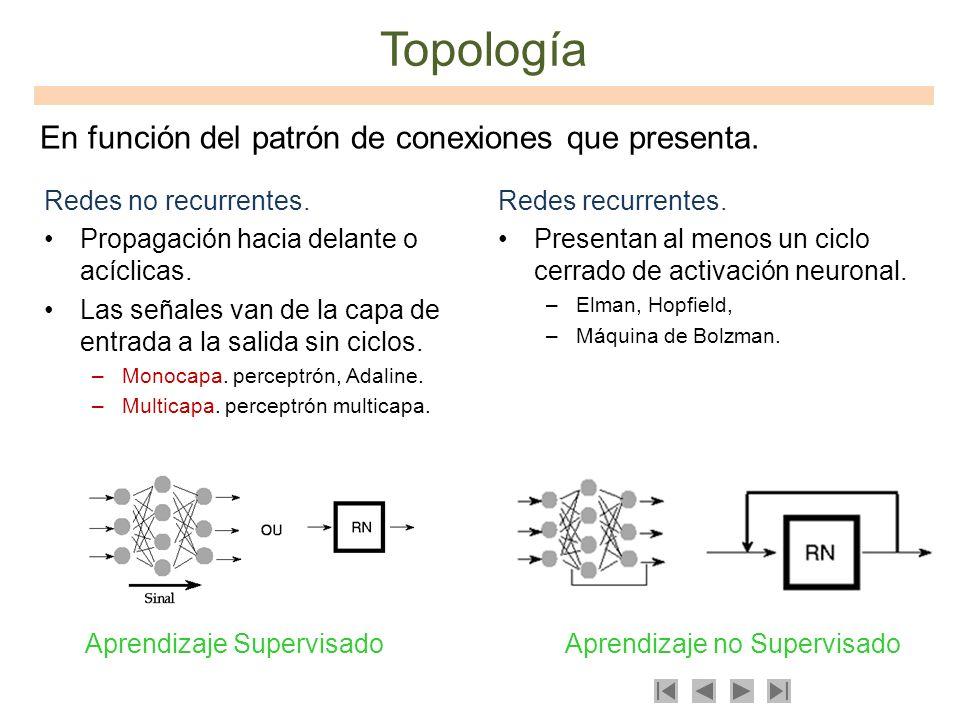 Topología En función del patrón de conexiones que presenta.
