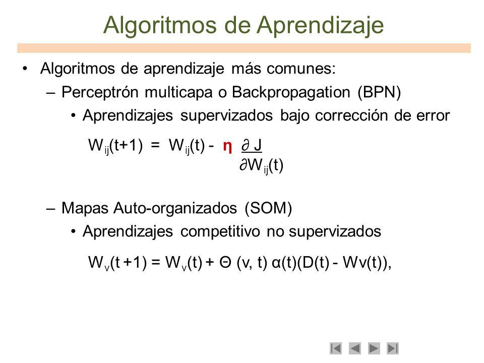 Algoritmos de Aprendizaje