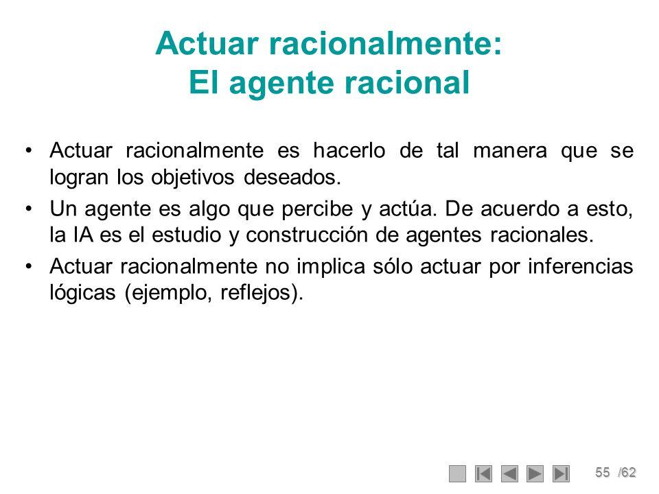 Actuar racionalmente: El agente racional