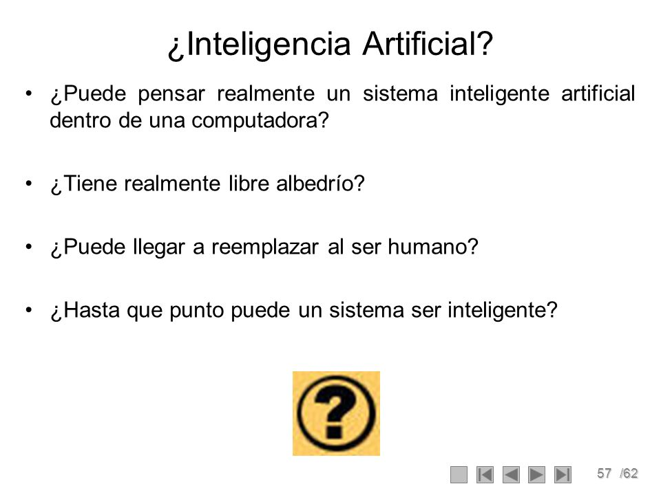 ¿Inteligencia Artificial