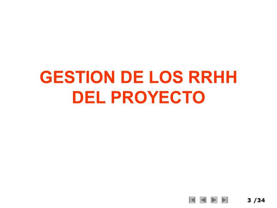 GESTION DE LOS RRHH DEL PROYECTO