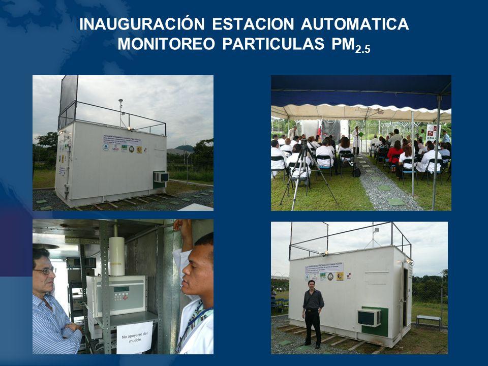 INAUGURACIÓN ESTACION AUTOMATICA MONITOREO PARTICULAS PM2.5