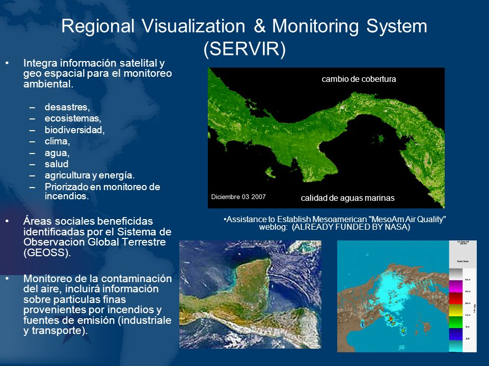 Regional Visualization & Monitoring System (SERVIR)