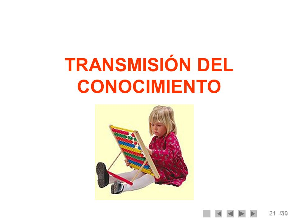 TRANSMISIÓN DEL CONOCIMIENTO