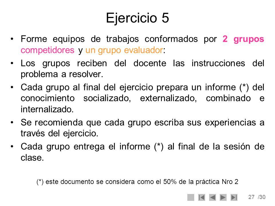 (*) este documento se considera como el 50% de la práctica Nro 2